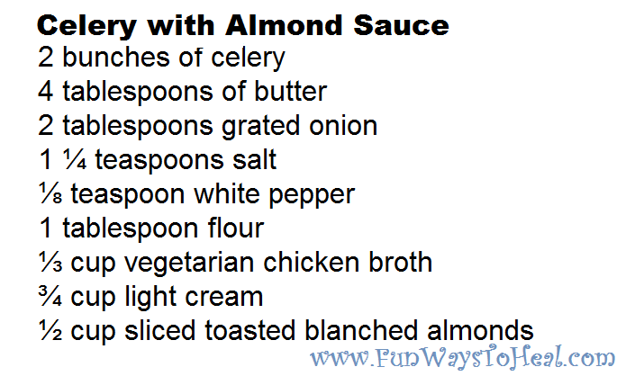 Celery With Almond Sauce Recipe