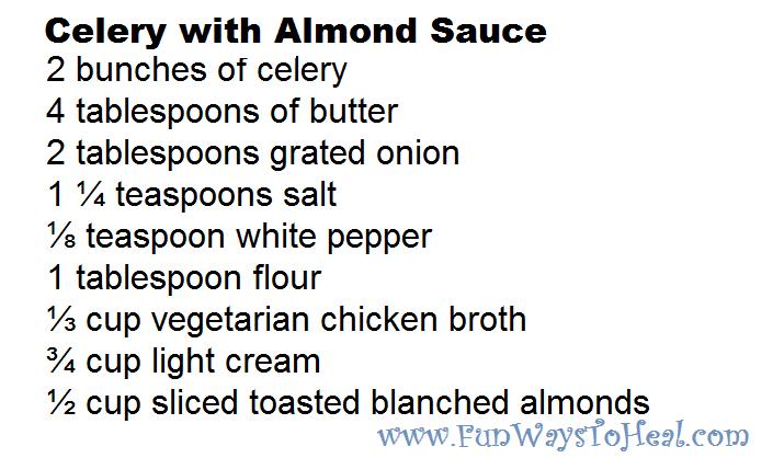 Celery With Almond Sauce Recipe